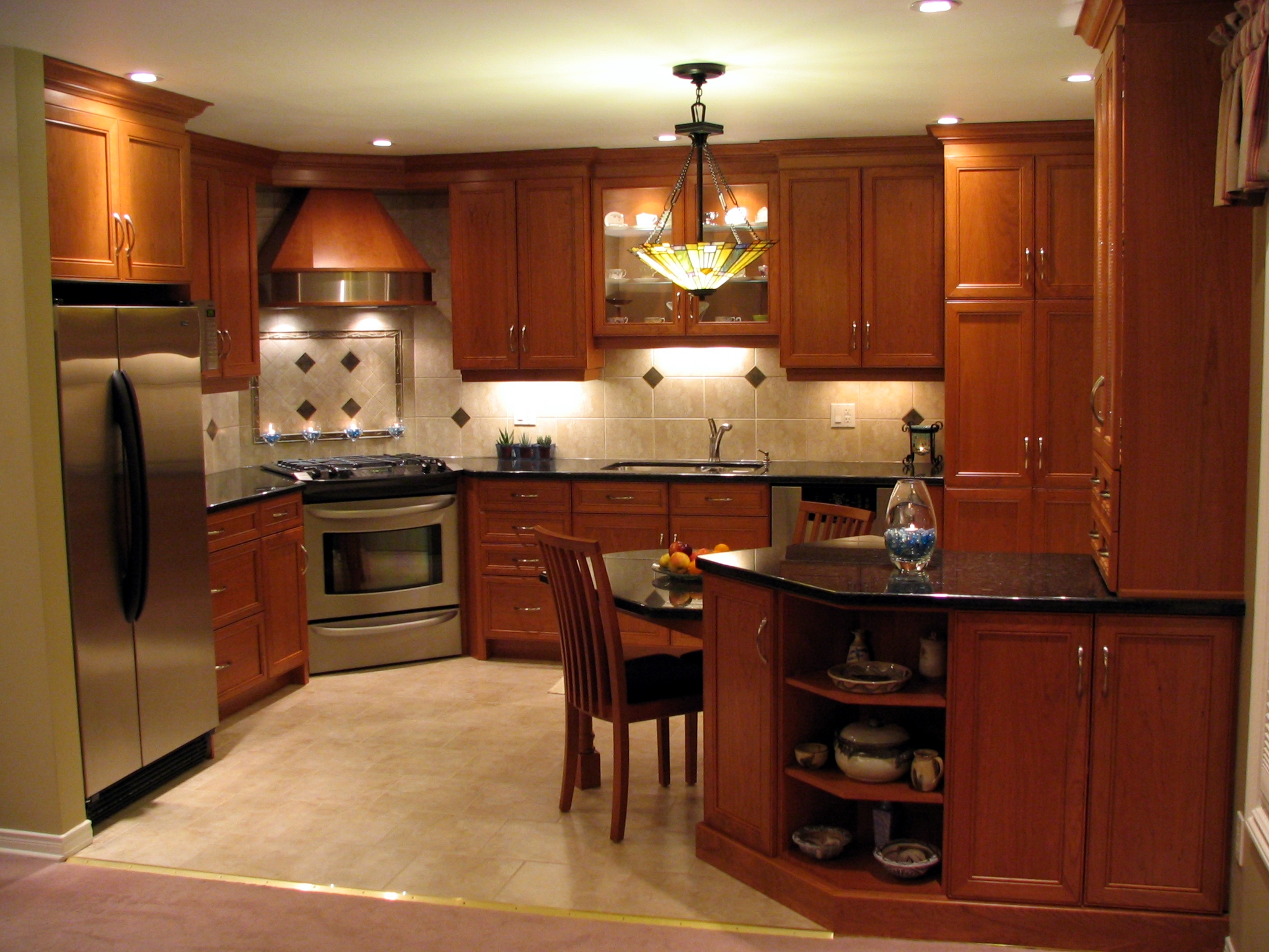 Midnight Blue Kitchen Cabinets As Dark Wood Kitchen Cabinets And The