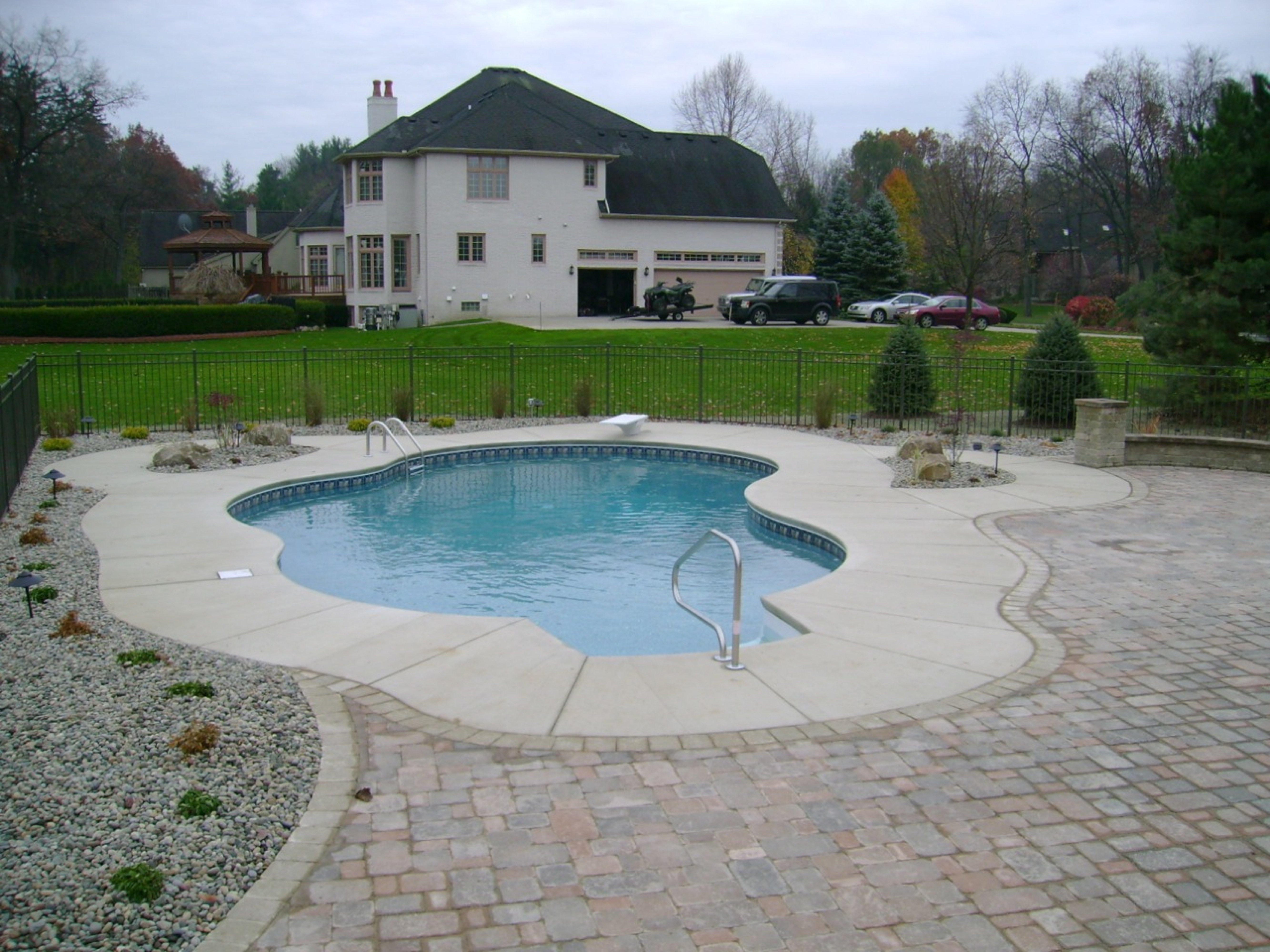 Inground Pool Design Ideas modern inground swimming pool design ideas saddle river nj 600x400 pool design Inspiration Design Small Yards For Swimming Pool In The Backyard Ideas Inground Pool Ideas For