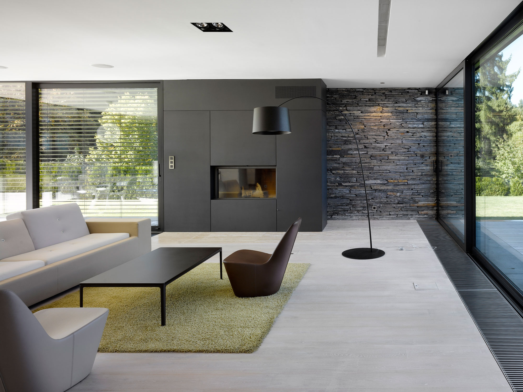 Living Room Designs With Stone