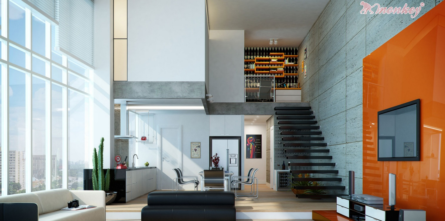 Modern Living Area As Modern
