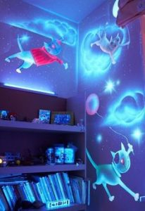 Inspiration Design Ideas For Kids Room With Glow In The Dark Outside: Glow in the dark paint ideas kids room as glow in the dark party ideas for kids with a marvelous view of beautiful accessories interior design to add beauty to your home