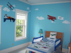 Design Contemporary Ideas Blue Sky Themed Kids Awesome Bedroom: Awesome blue sky themed kids bedroom as contemporary blue sky themed kids bedroom with the home decor minimalist bedroom furniture with an attractive appearance 1 1