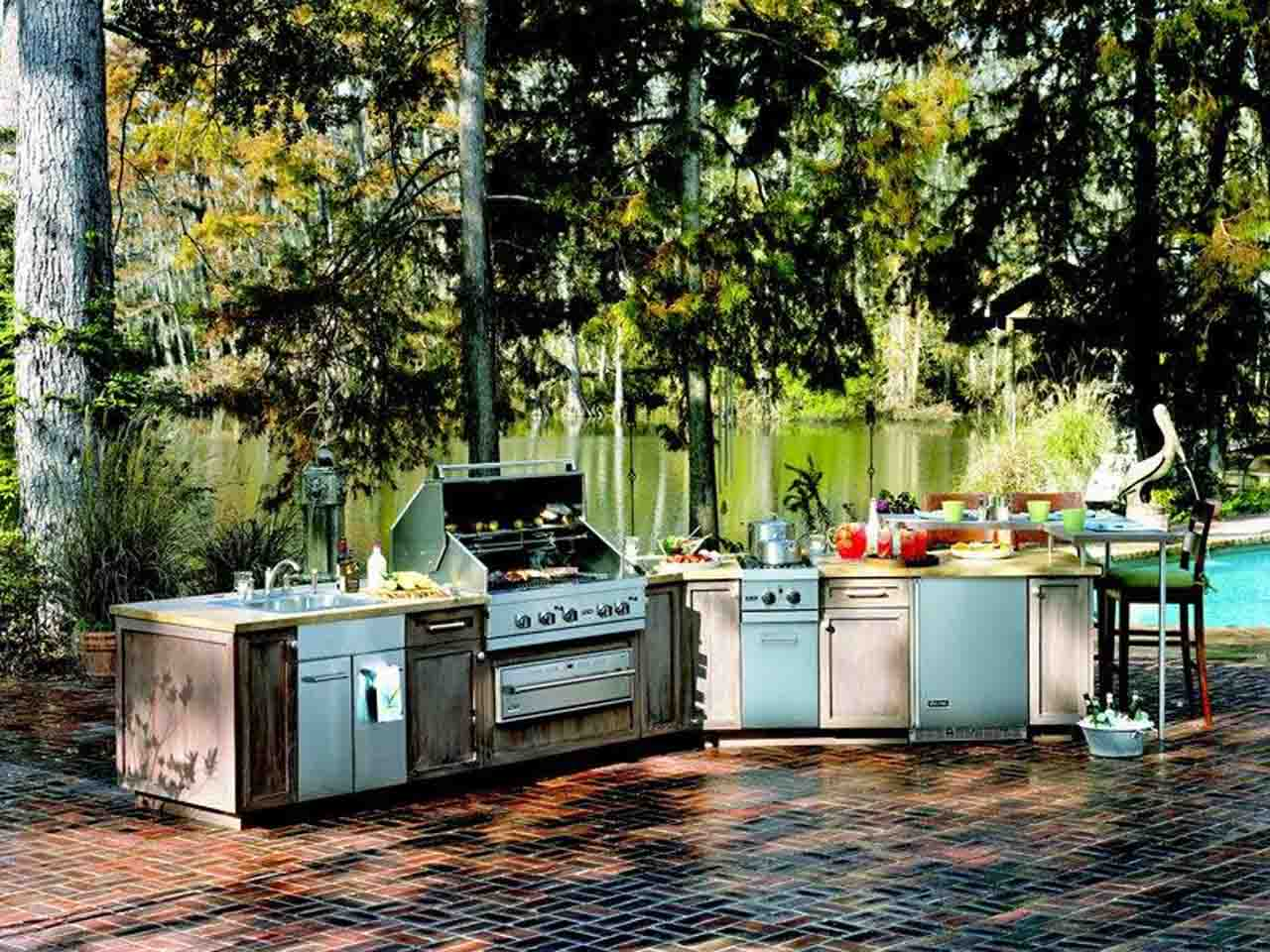Decorating Ideas For Build Kitchen Outdoor With Custom Furniture: Kitchen outdoor as kitchen outdoor design for the interior design of your home kitchen as inspiration interior decoration